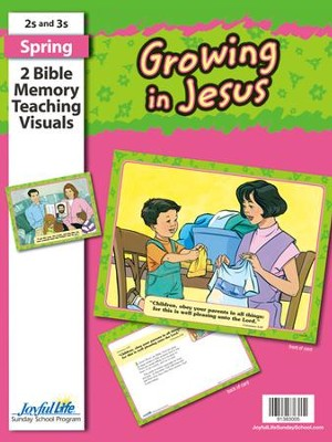 Growing in Jesus (ages 2 & 3) Bible Memory Verse  Visuals  -