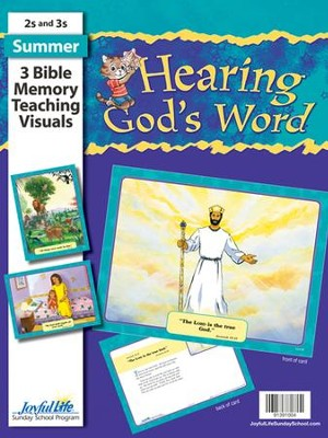Hearing God's Word (ages 2 & 3) Bible Memory Verse Visuals  -