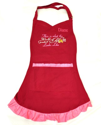 Personalized, World's Greatest Mom Apron   -