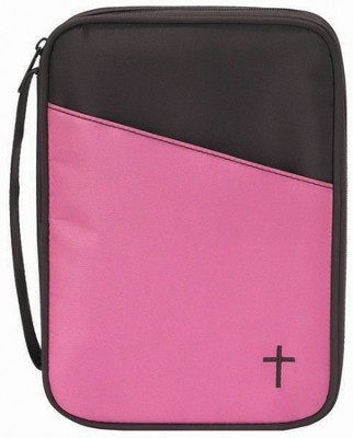 Thinline Bible Cover, Brown and Pink  -