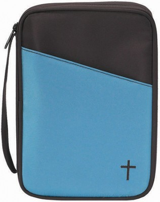 Thinline Bible Cover, Brown and Teal  -