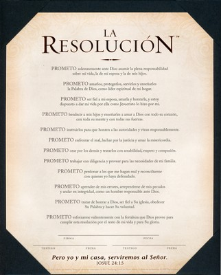 The Resolution--Frame-Ready Print, Spanish Edition The Resolution Frame-Ready Print, Spanish Edition  -