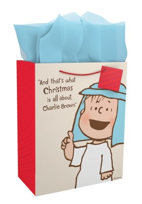Peanuts Linus, That's What Christmas is all About Gift Bag, Large  -