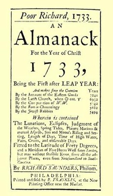 Poor Richard's Almanack 1733   -     By: Benjamin Franklin