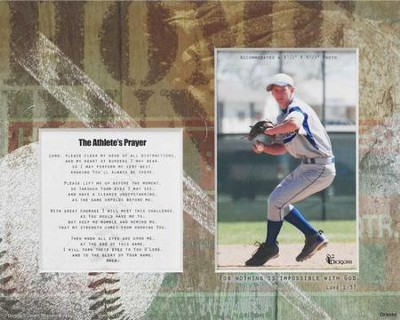 For Nothing is Impossible Athlete Player Baseball Photo Mat  -