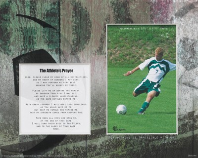 For Nothing is Impossible Athlete Player Soccer Photo Mat  -