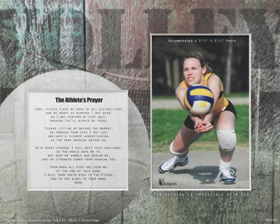 For Nothing is Impossible Athlete Player Volleyball Photo Mat  -