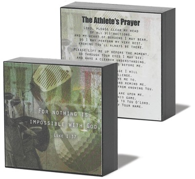 Athlete Prayer Golf Plaque  -