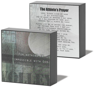Athlete Prayer Volleyball Plaque  -