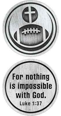 For Nothing is Impossible Football and Cross Pocket Stone  -
