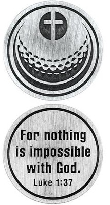 For Nothing is Impossible Golf Ball and Cross Pocket Stone  -