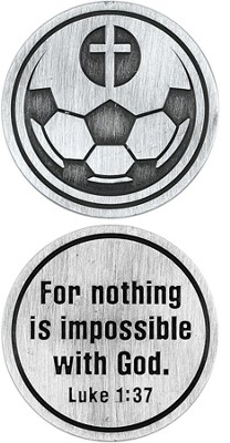 For Nothing is Impossible Soccer Ball and Cross Pocket Stone  -