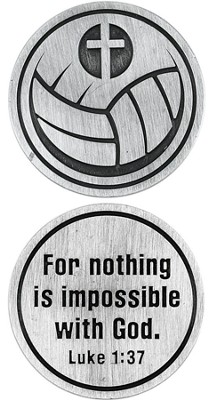 For Nothing is Impossible Volleyball and Cross Pocket Stone  -