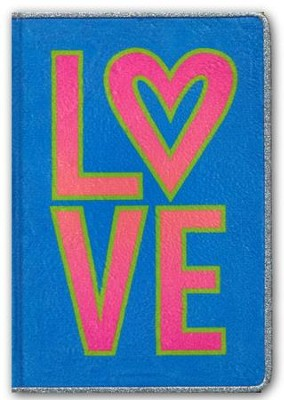 NLT Tween Slimline Bible, Fur, Neon/Blue  -