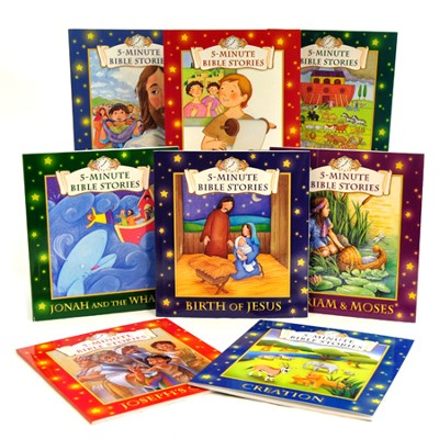 5-Minute Bible Stories: 8-Book Set for Children  -