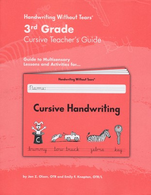 Cursive Handwriting Grade 3 Teacher's Guide   -