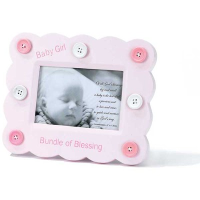 Bundle of Blessing Photo Frame, Pink  -