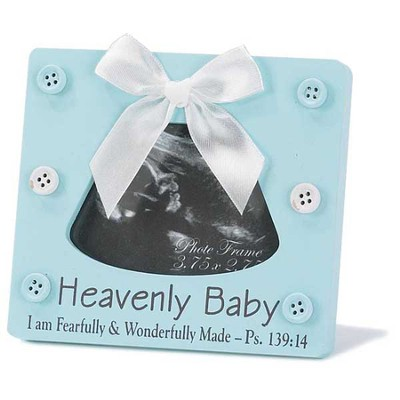 Heavenly Baby, Psalm 139:14 Photo Frame, Blue  -