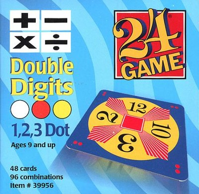24 Game: Double Digits (48 Cards)  -