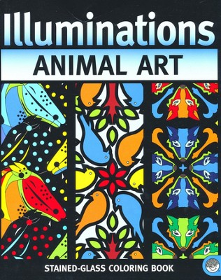 Animal Art: Illuminations Stained Glass Coloring Book   -