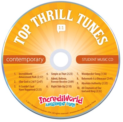 IncrediWorld Amazement Park VBS Student CDs (Pack of 10 Contemporary Versions)  -