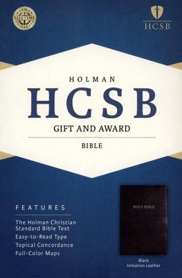 Holman Christian Standard Gift & Award Bible, Imitation leather, Black  -
