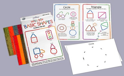 Wikki Stix Basic Shapes Creative Fun Kit   -
