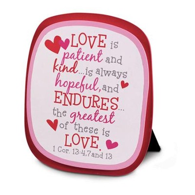 The Greatest is Love Plaque  -