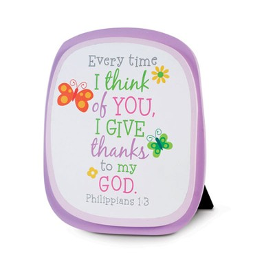Every Time I Think of You I Give Thanks--Wood Plaque  -