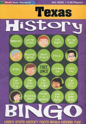 Texas History Bingo  -     By: Carole Marsh