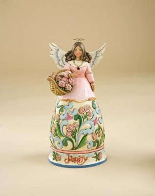 January Birthstone Angel Figurine   -     By: Jim Shore