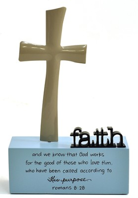 Faith Sculpture, God's Work, Large Faith Cross Sculpture, Large: God works...  -     By: Maggie Lindley