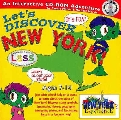 Let's Discover New York CD-ROM, Grades 2-8   -     By: Carole Marsh