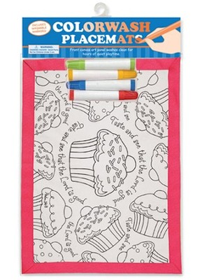 Cupcake, Psalm 34:8, Placemat  -