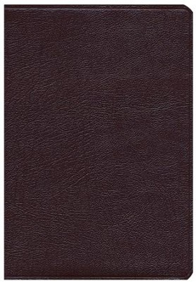 KJV Super Giant Print Reference Bible Burgundy Genuine Leather  -