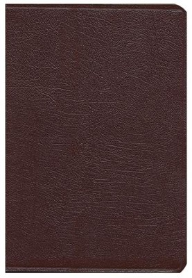 KJV Super Giant Print Reference Bible Burgundy Genuine Leather, Thumb Indexed - Slightly Imperfect  -