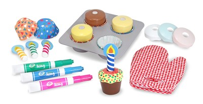 Bake and Decorate Cupcake Play Food Set  -