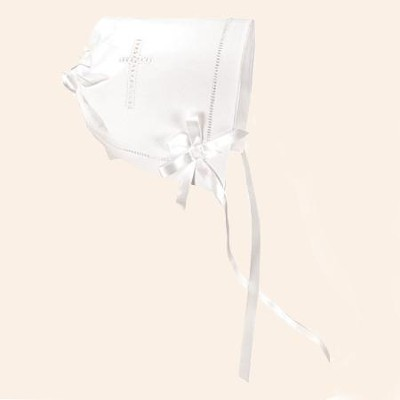 Keepsake Bonnet, White  -