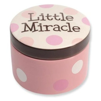 Little Miracle Keepsake Box, Pink  -