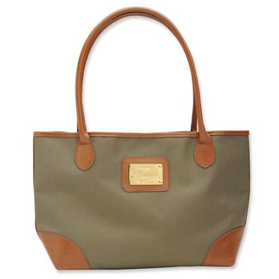 Bucket Tote with Faith Accent, Tan  -