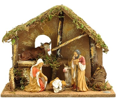 7 Piece Italian Nativity Set  -