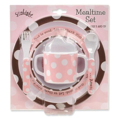 God Is Great Meal Set, Pink  -