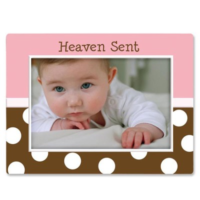 Heaven Sent Baby Photo Frame, Pink  -