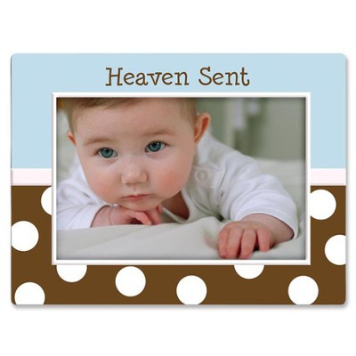 Heaven Sent Baby Photo Frame, Blue  -
