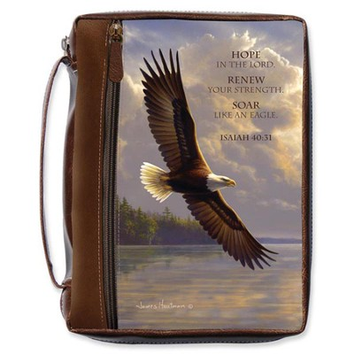Soaring Eagle Bible Cover, Large  -