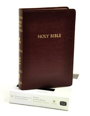 HCSB Super Giant Print Reference Bible, Genuine  -