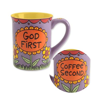 God First, Coffee Second Mug  -     By: Lorrie Veasey