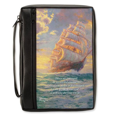 Courgeous Voyage Bible Cover, XL          -     By: Thomas Kinkade