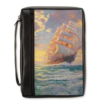 CourgeousVoyage Bible Cover, Medium  -     By: Thomas Kinkade