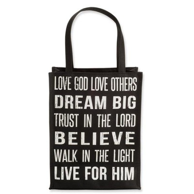 Love God, Love Others Tote, Black  -